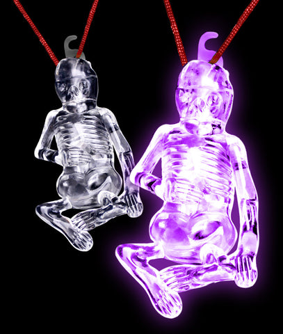 Glow Stick Halloween Skeleton - Purple