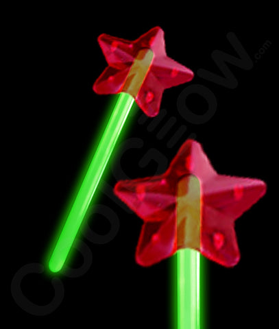 Glow Premium Star Wand - Green
