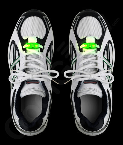 LED Motion Activated Shoe Laces - Green