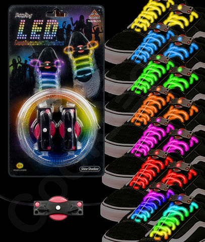 LED Shoe Laces - Assorted (8 pairs)
