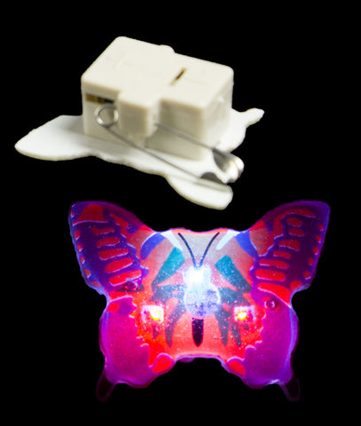 Flashing Butterfly Blinky - Yellow & Purple (25/pack)