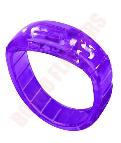 LED Bangle Bracelets - Purple
