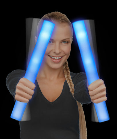 LED Foam Stick Baton Supreme - Blue (12/pack)