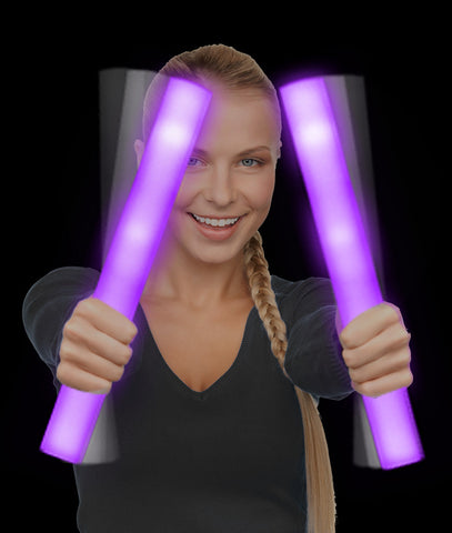 LED Foam Stick Baton Supreme - Purple (12/pack)