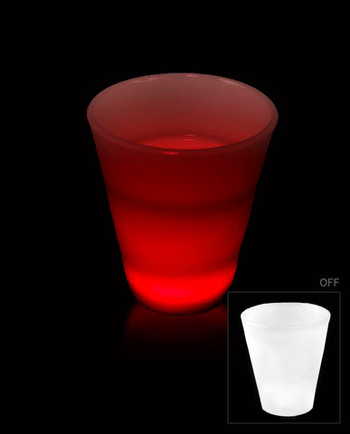 Glow LED Shot Glass - 2 oz. Red