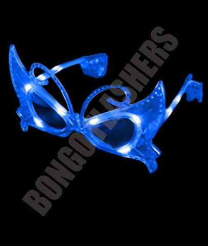 LED Butterfly Sunglasses - Blue