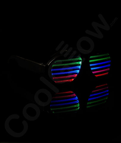 LED Rechargeable Sound Activated Eyeglasses