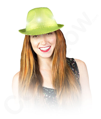 a0b447c4de9f8 LED Neon Sequin Fedora - Lime Green – Bongo Flashers