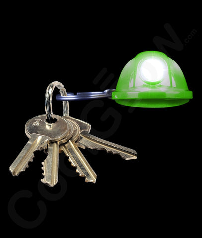 LED Hard Hat Key Chain - Green