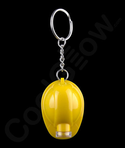 LED Hard Hat Key Chain - Yellow