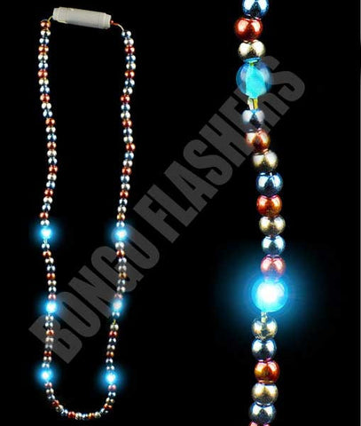 LED 25 Inch Bead Necklace - Patriotic