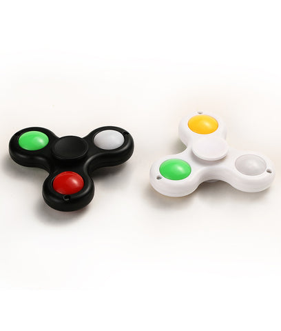 LED Fidget Spinner - Black and White (2/pack)