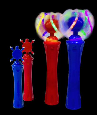 LED Spinning Wand - Assorted - 12 Pack