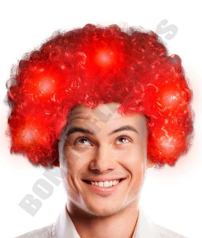 LED Afro Wig - Red