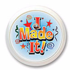 """I Made It!"" Blinking Button - 2"""