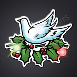 CHRISTMAS DOVE LED PIN BLINKIES