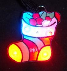 Christmas Stocking Flashing Magnetic LED Pin