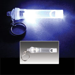 Clear LED Whistle Keychain