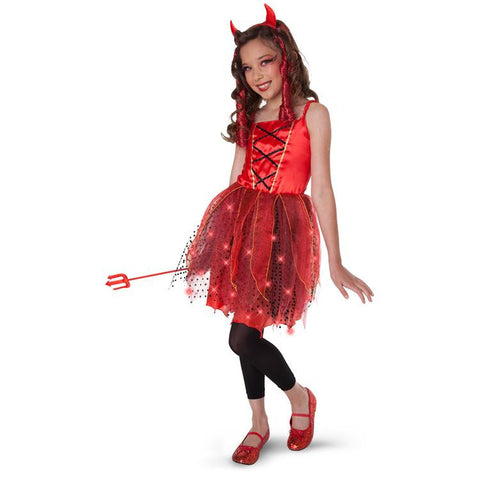 Dazzling Devil Light Up Child/Tween Costume