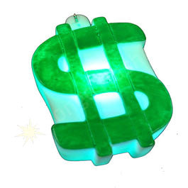 Dollar Sign LED Necklace - Green