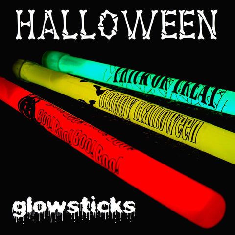 6-inch Slim Halloween Glow Sticks (Pack of 50)
