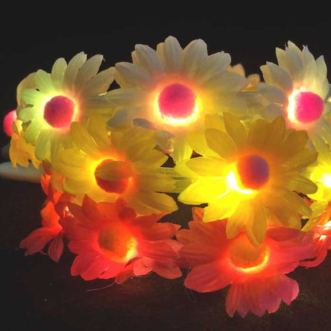 Daisy Flower Headband - Yellow Flowers