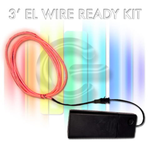 3-foot EL Wire Kit - ORANGE