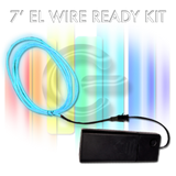 7-foot EL Wire Kit - PURPLE