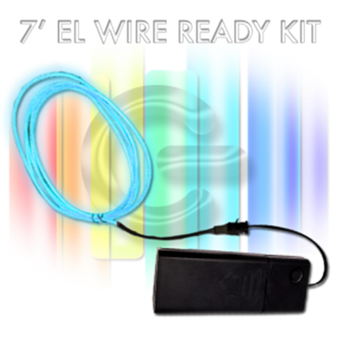 7-foot EL Wire Kit - AMBER YELLOW
