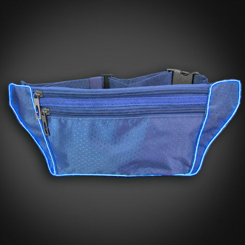 Electroluminescent Fanny Pack - Blue
