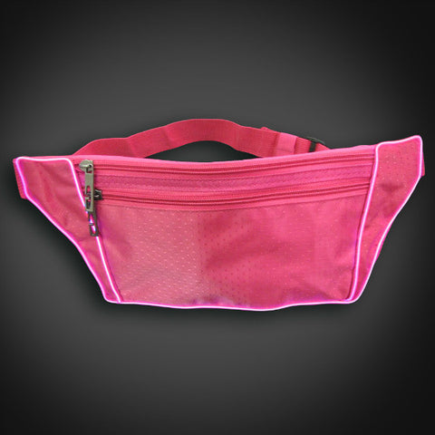 Electroluminescent Fanny Pack - Pink