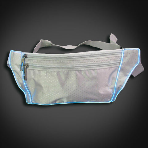 Electroluminescent Fanny Pack - Silver