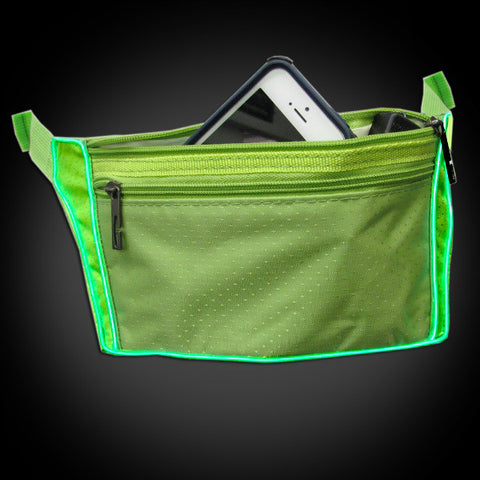 Electroluminescent Fanny Pack - Green