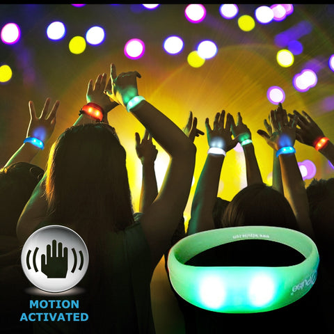 Silicone Motion Activated Bracelet - White