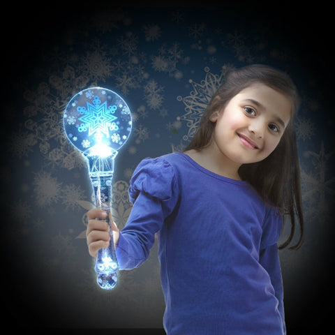 Animated Light-Up Snowflake Wand