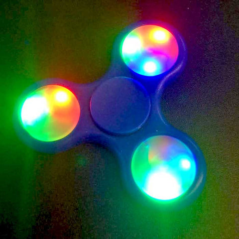 LED Fidget Spinner - Blue Plastic