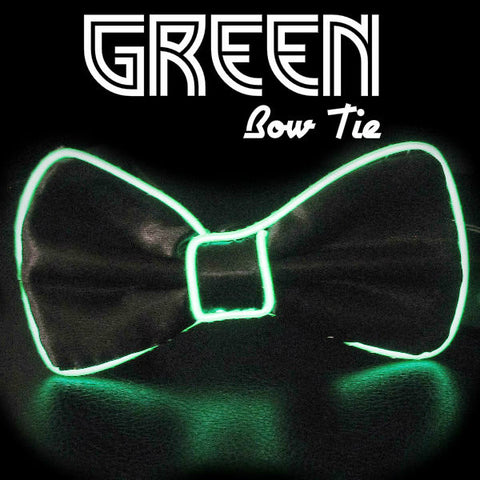 Electroluminescent EL Wire Bowtie - Green