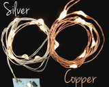 100 Warm White Fairy Lights, 17 Ft Wire - Non-Waterproof C Pack - Silver Wire
