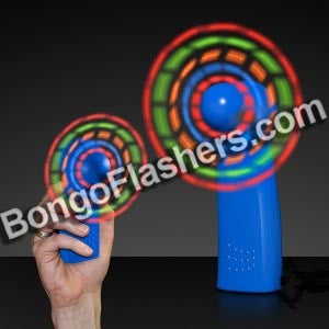 LED Mini Fans with Blue Handles