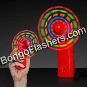 LED Mini Fans with Red Handles