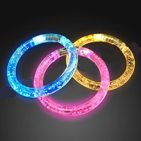 LED Rainbow Bubble Bangle Bracelets