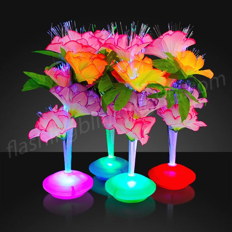 "11.5"" Fiber Optic LED Flower Centerpieces"