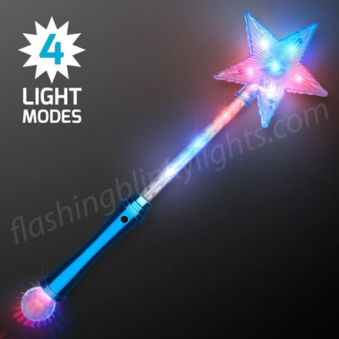 LED Blue Super Star Wands