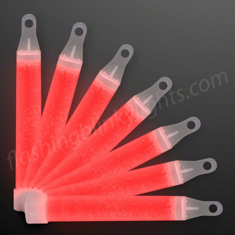 "4"" RED Glow Sticks in Bulk, BAGS OF 50"