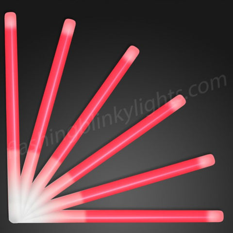 "9.4"" Red Glow Stick Wands"