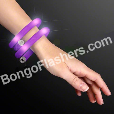 Purple Light Up Tube Wrap Bracelets