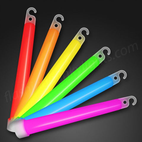 "6"" Glow Sticks, BULK Assorted Colors (25/pack)"