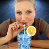 "Blue Glow Straw for Light Drinks - 9""  (25/pack)"