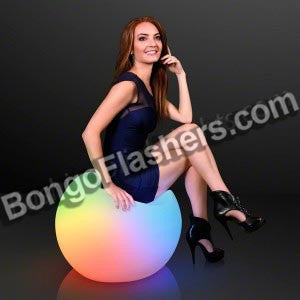 "19"" Light Up Modern Lounge Chair, LED Lounge Furniture"