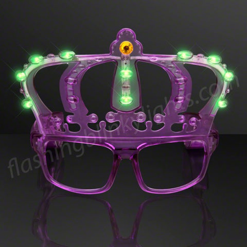 Kings Crown Mardi Gras Light Up Shades